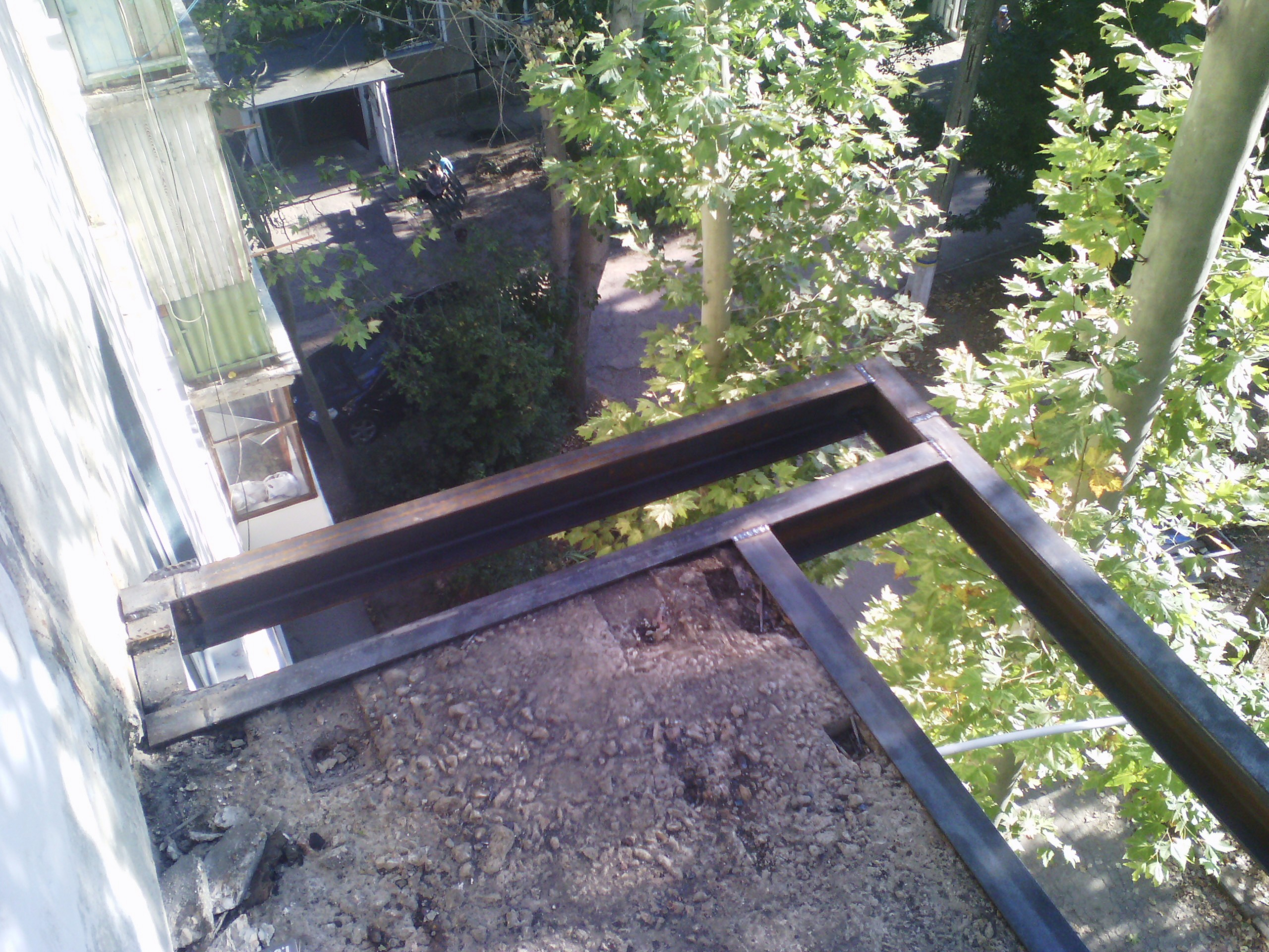 Расширение под французский балкон